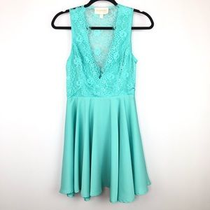 Keepsake Need Your Love Lace Mini Dress in Mint M